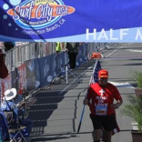 The Surf City Marathon in Huntington Beach on 02/05/2012